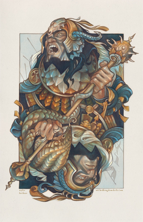 King of Clubs - Wicked Kingdom playing card illustration by artist Wylie Beckert