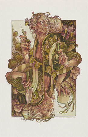 King of Spades - Wicked Kingdom playing card illustration by artist Wylie Beckert